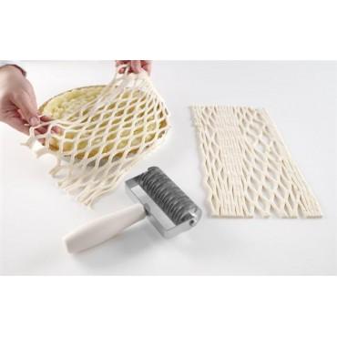 Rolka tnąca do ciasta wzór siatki ostrza tnące ze stali nierdzewnej