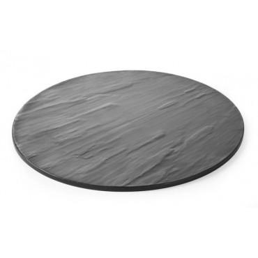 Płyta do serwowania z melaminy - imitacja łupka śr. 430 mm