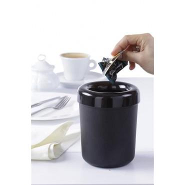 Śmietniczka stołowa/Pojemnik na sztućce Czarny