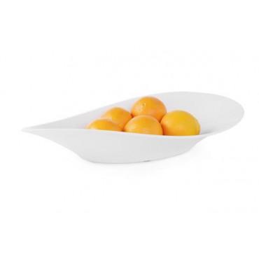 Miska w kształcie fali z melaminy 530x270x107, biała