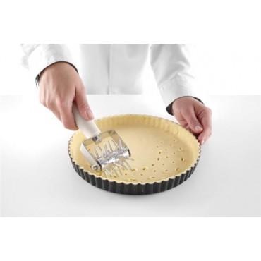 Rolka do ciasta dziurkująca 70 mm wałek ze stali nierdzewnej