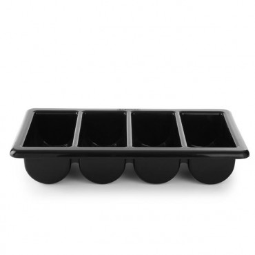 Pojemnik na sztućce GN 1/1 - 4-częściowy czarny