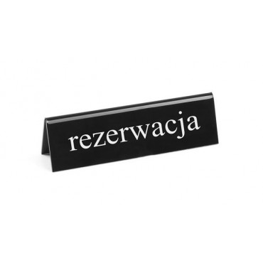 """Tabliczka informacyjna """"Rezerwacja"""" PL"""
