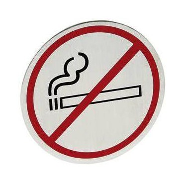 Tabliczka informacyjna samoprzylepna na drzwi - zakaz palenia zakaz palenia - duża