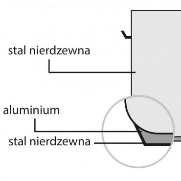 Garnek wysoki z pokrywką, stalowy, Ø 200 mm, V 6.3 l