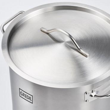 Garnek średni z pokrywką, stalowy, ø 280 mm, V 11.1 l