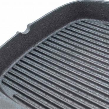 Patelnia żeliwna, ryflowana, 240x240 mm