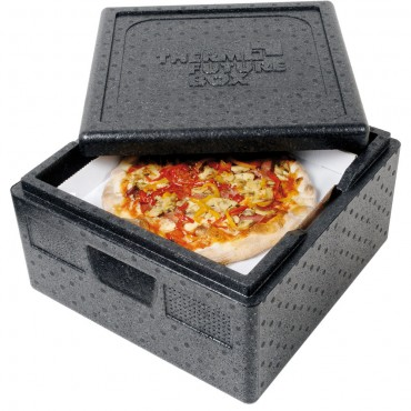 Pojemnik termoizolacyjny do pizzy, czarny, V 32 l