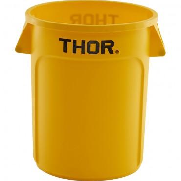 Pojemnik uniwersalny na odpadki, Thor, żółty, V 38 l