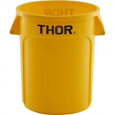 Pojemnik uniwersalny na odpadki, Thor, żółty, V 75 l