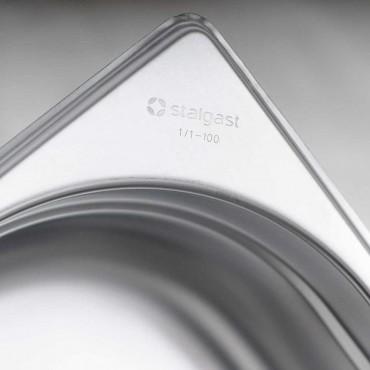 Pojemnik stalowy, GN 1/1, H 100 mm