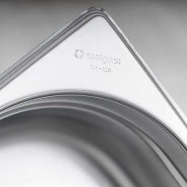 Pojemnik stalowy, GN 1/2, H 100 mm
