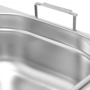 Pojemnik stalowy z uchwytami, GN 1/4, H 150 mm