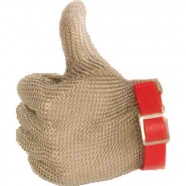 Rękawica ochronna, stalowa, antyprzecięciowa, czerwona, rozmiar M