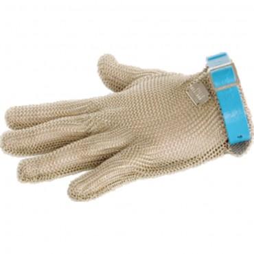 Rękawica ochronna, stalowa, antyprzecięciowa, niebieska, rozmiar L