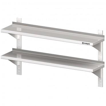 Półka stalowa, wisząca, przestawna, podwójna, 1200x300x660 mm