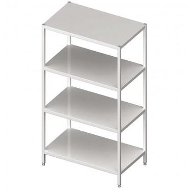 Regał stalowy, magazynowy, skręcany, półki pełne, 800x400x1800 mm