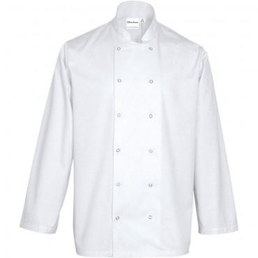 Bluza kucharska, unisex, CHEF, biała, rozmiar L