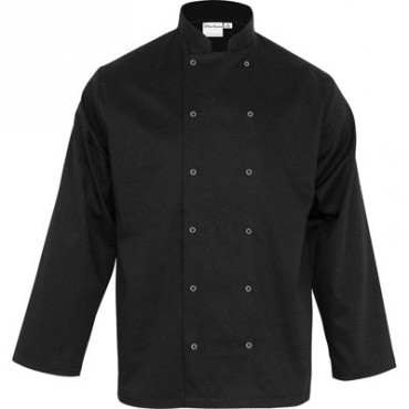 Bluza kucharska, unisex, CHEF, czarna, rozmiar S
