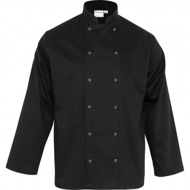 Bluza kucharska, unisex, CHEF, czarna, rozmiar XL