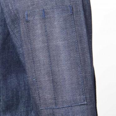 Bluza kucharska z jeansu, niebieska, rozmiar L