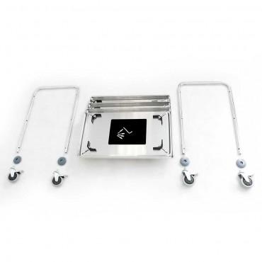 Wózek kelnerski ze stali nierdzewnej, skręcany, 2-półkowy