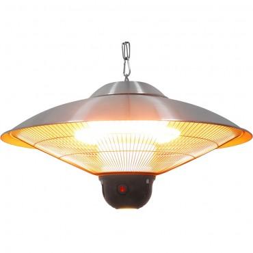 Lampa grzewcza wisząca ze zdalnym sterowaniem i oświetleniem LED, P 2.1 kW