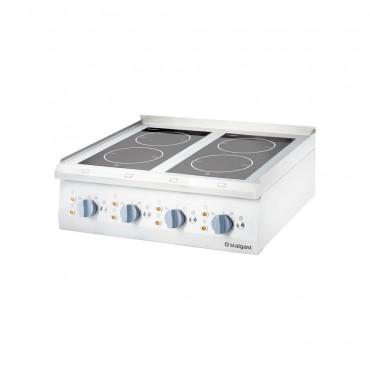 Kuchnia ceramiczna, 4-polowa, nastawna,10 kW