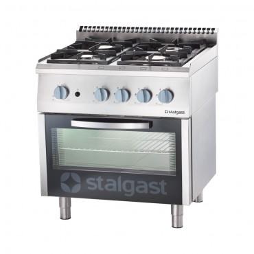 Kuchnia gazowa, 4-palnikowa z piekarnikiem gazowym, 24+5 kW, G30