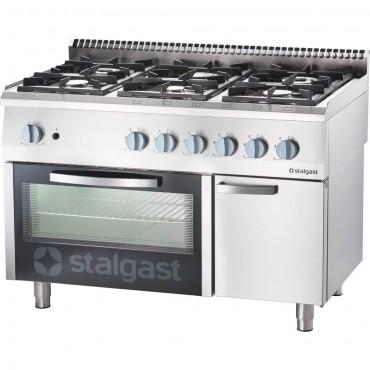 Kuchnia gazowa, 6-palnikowa z piekarnikiem gazowym, 32.5+5 kW, G30