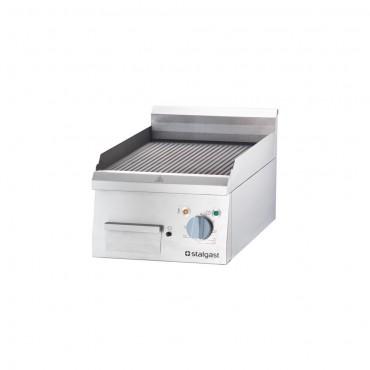 Płyta grillowa elektryczna, ryflowana, 4 kW