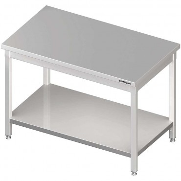 Stół centralny z półką 1500x700x850 mm skręcany