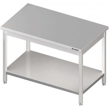 Stół centralny z półką 1600x700x850 mm skręcany