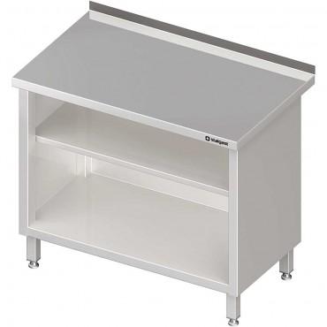 Stół przyścienny, zabudowany z 2-ma półkami 600x600x850 mm