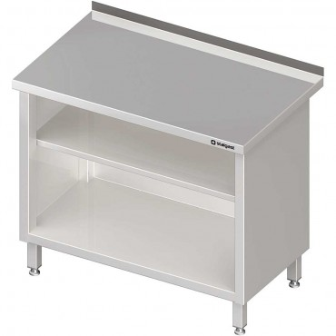 Stół przyścienny, zabudowany z 2-ma półkami 900x700x850 mm