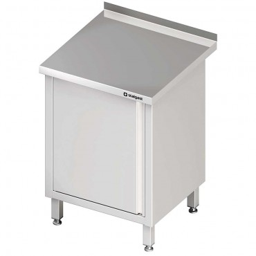 Stół przyścienny z drzwiami skrzydłowymi 450x700x850 mm