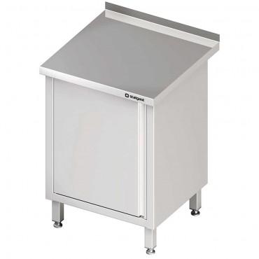 Stół przyścienny z drzwiami skrzydłowymi 600x700x850 mm