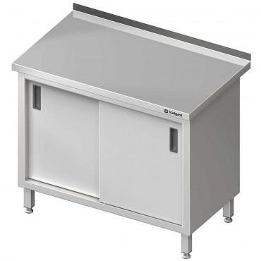 Stół przyścienny z drzwiami suwanymi 1300x700x850 mm
