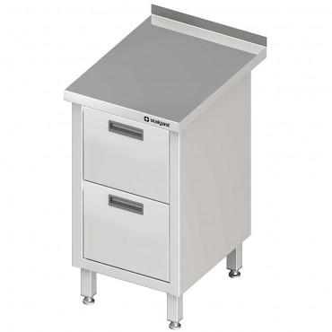 Stół przyścienny z blokiem dwóch szuflad 450x700x850 mm