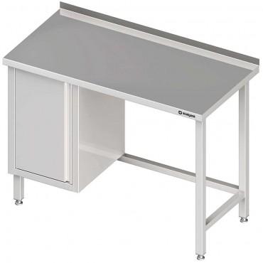 Stół przyścienny z szafką (L),bez półki 1300x600x850 mm