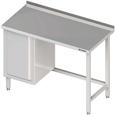 Stół przyścienny z szafką (L),bez półki 1500x600x850 mm