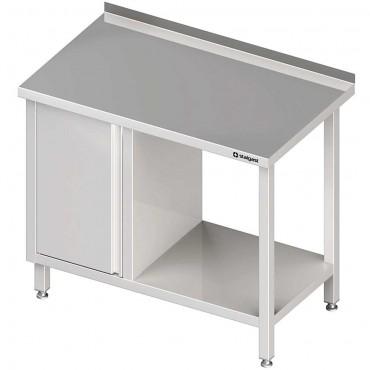Stół przyścienny z szafką (L),i półką 1300x600x850 mm