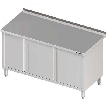 Stół przyścienny z szafką (L),drzwi skrzydłowe 1800x600x850 mm