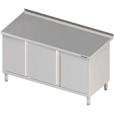 Stół przyścienny z szafką (L),drzwi skrzydłowe 1800x700x850 mm