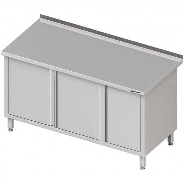 Stół przyścienny z szafką (P),drzwi skrzydłowe 1400x600x850 mm