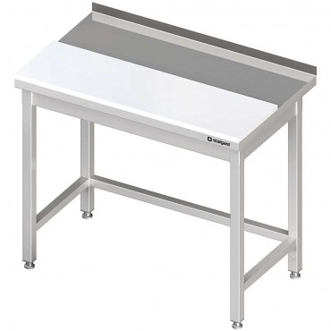 Stół przyścienny z płytą polietylenową 1000x700x850 mm spawany