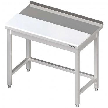 Stół przyścienny z płytą polietylenową 1300x700x850 mm spawany
