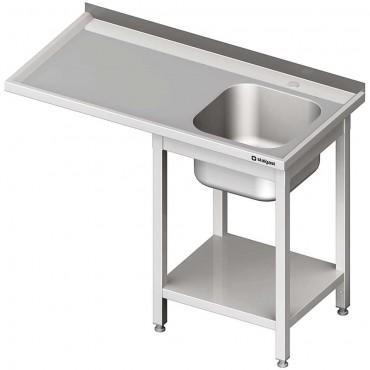 Stół ze zlewem 1-kom.(P) i miejscem na lodówkę lub zmywarkę 1400x600x900 mm spawany