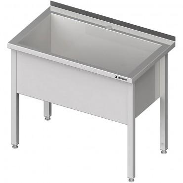 Stół z basenem 1-komorowym spawany 600x600x850 mm h400 mm