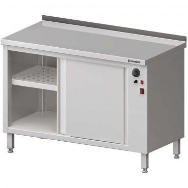 Stół przyścienny, z szafką grzewczą,drzwi suwane 1400x600x850 mm
